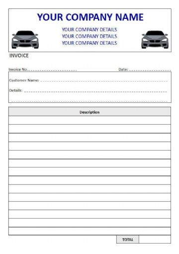 Mechanics NCR Invoice Pads & Sets, Duplicate or Triplicate, 1 Column Lined